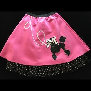 Girls' 1950's-style poodle skirt costume